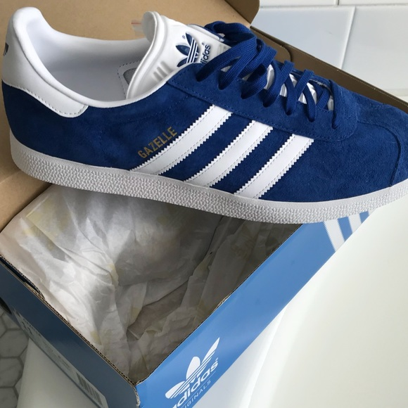 Mens Royal Blue Suede Gazelle Adidas